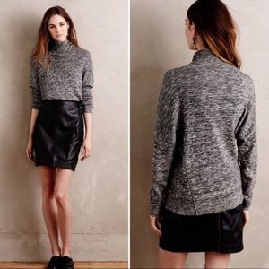 Anthro Moth Annona Grey Turtleneck Sweater
